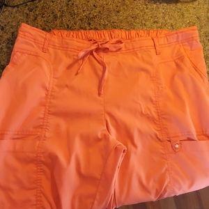 MedCouture scrub pants, Coral orange, XL NWT